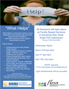 """What Helps"" @ Family Based Services"
